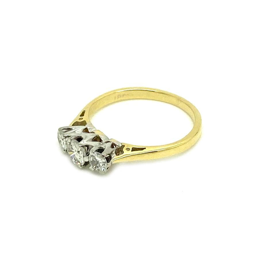 1930s Ring Vintage 1930s 18ct Gold 0.42ct Diamond Ring