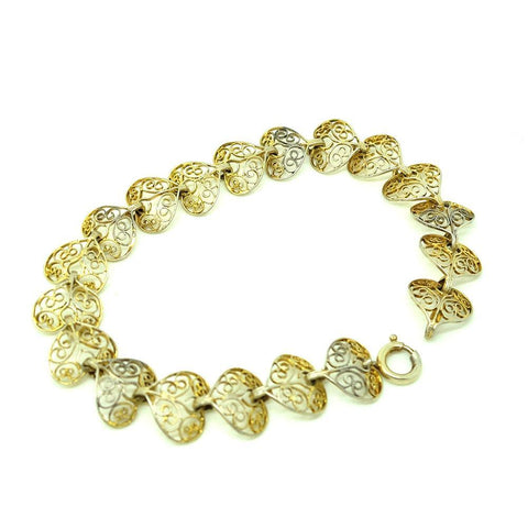 Vintage 1950's Iris Glass Diamanté Bracelet