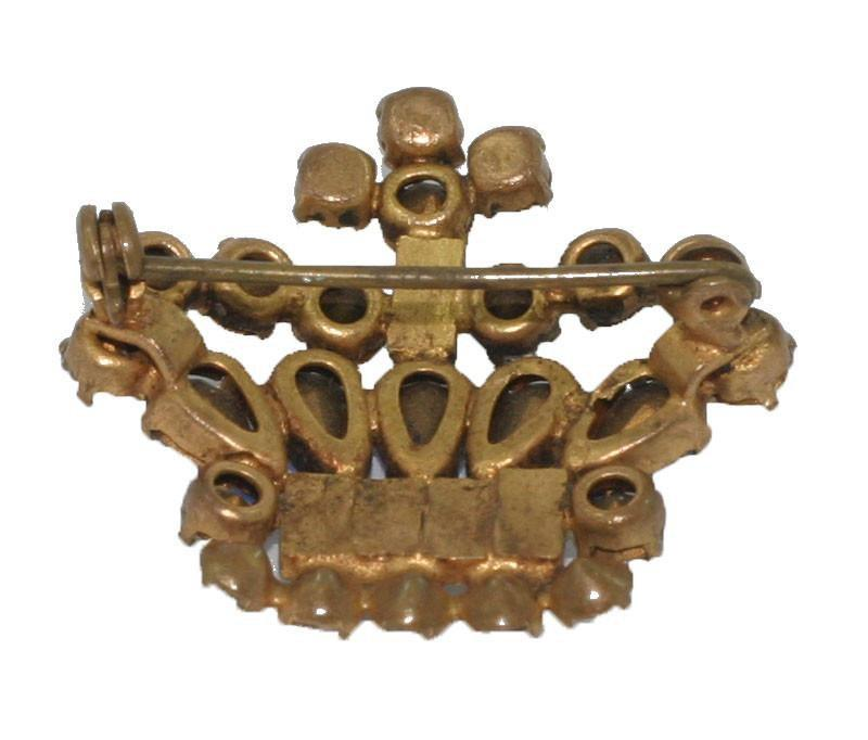 Vintage 1940s Crown Brooch