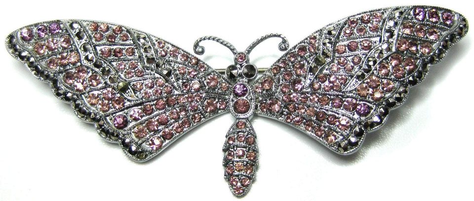 Vintage 1940s Pink Butterfly Brooch