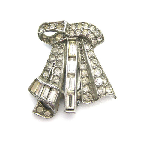 Vintage 1940s Hexagon Diamante Paste Brooch