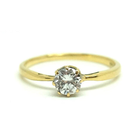 Antique Victorian Diamond 18ct Gold Engagement Ring