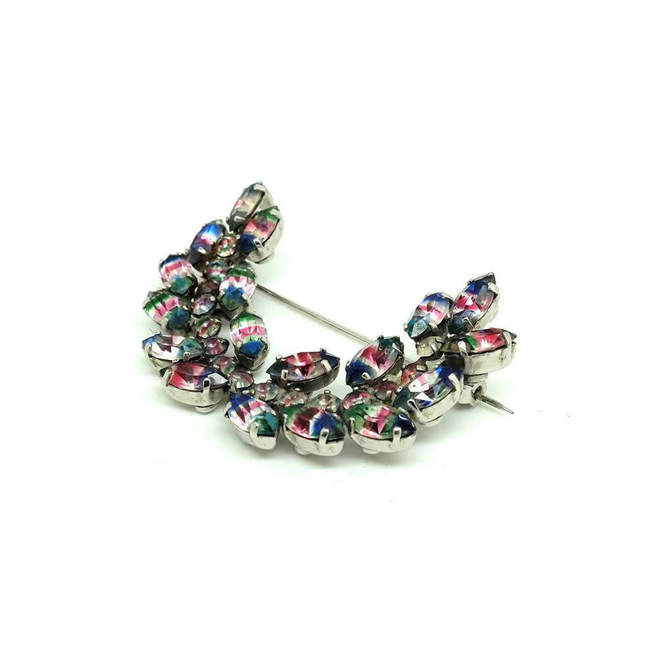 Vintage 1950's Iris Glass Garland Brooch
