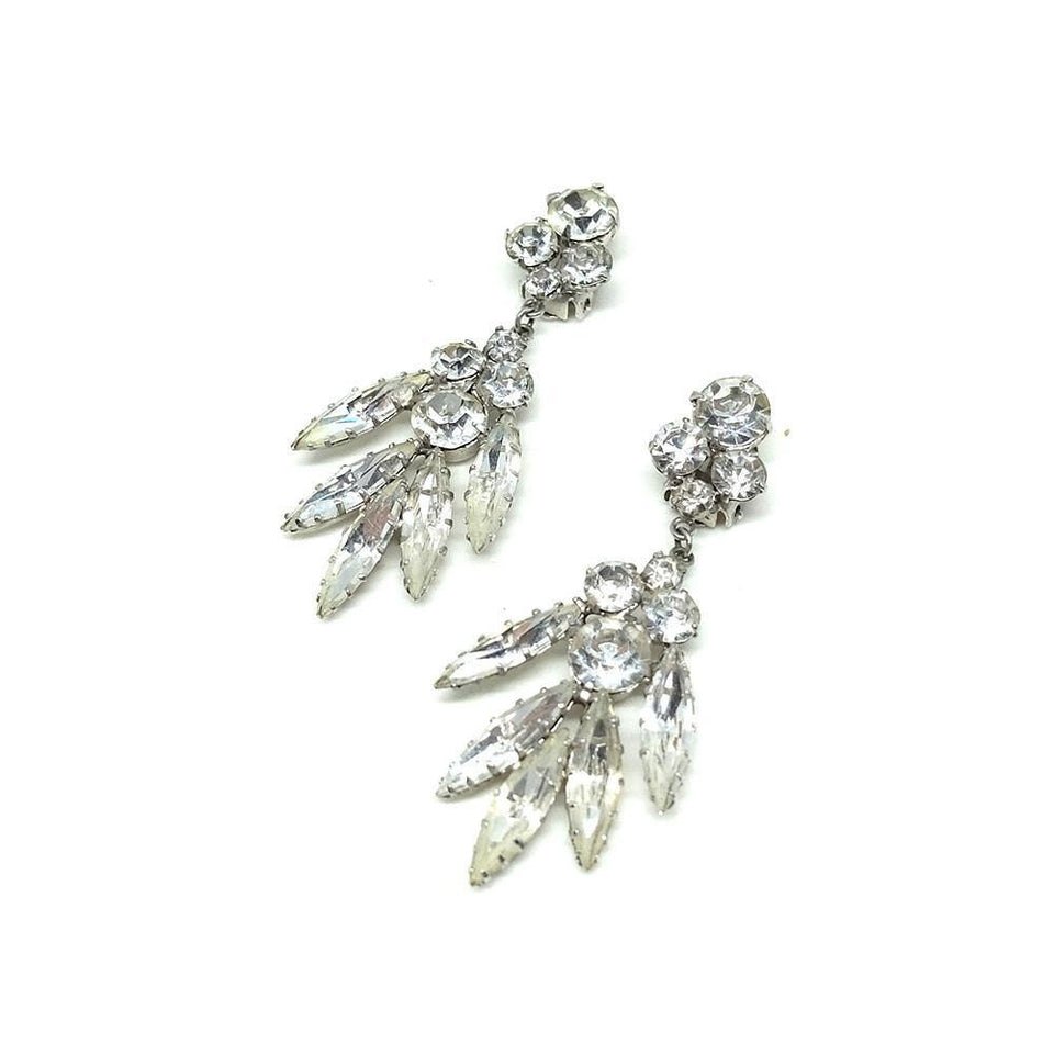 Vintage 1950's Diamanté Drop Earrings