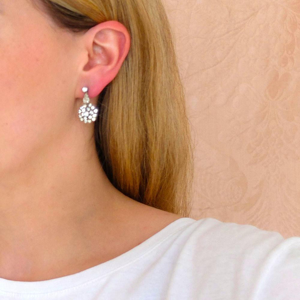 Vintage 1950's Diamante Drop Earrings