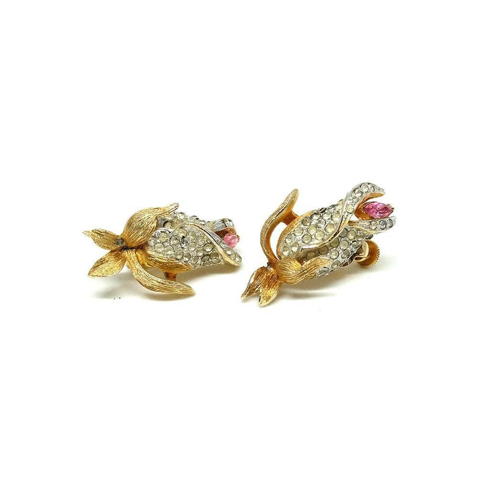 Vintage 1950's Francos Flower Earrings