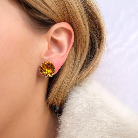 Vintage 1950's Orange Clip On Earrings