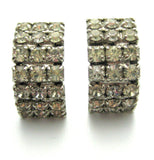 Vintage 1950s Diamante Hoop Earrings