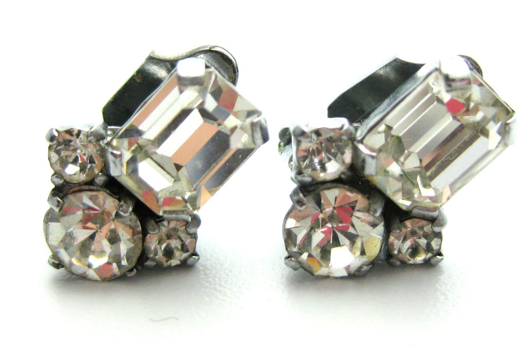 Vintage 1950s DiamantÌ_å© Clip earrings