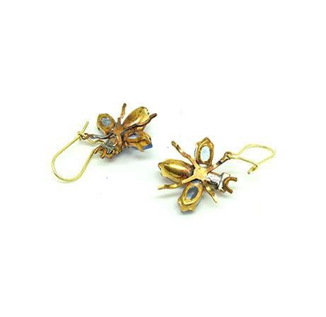 Vintage 1950s Glass Insect Earrings