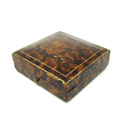 1950s Jewellery Box Vintage 1950s Brown Leather Jewellery Box