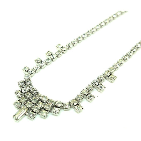 1950s Necklace Vintage 1950s Diamante Necklace