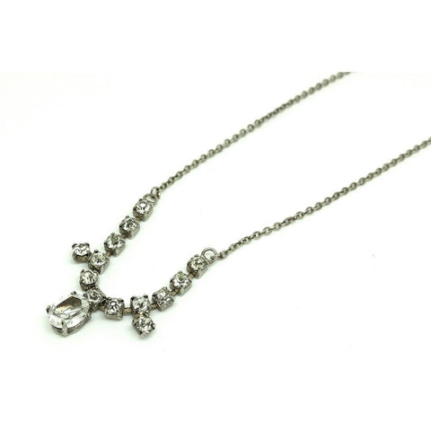 Vintage 1960s Scales of Justice Silver Charm Necklace