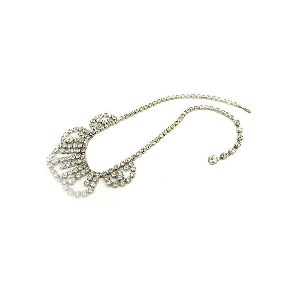 Vintage 1950s Diamantè Rhinestone Necklace