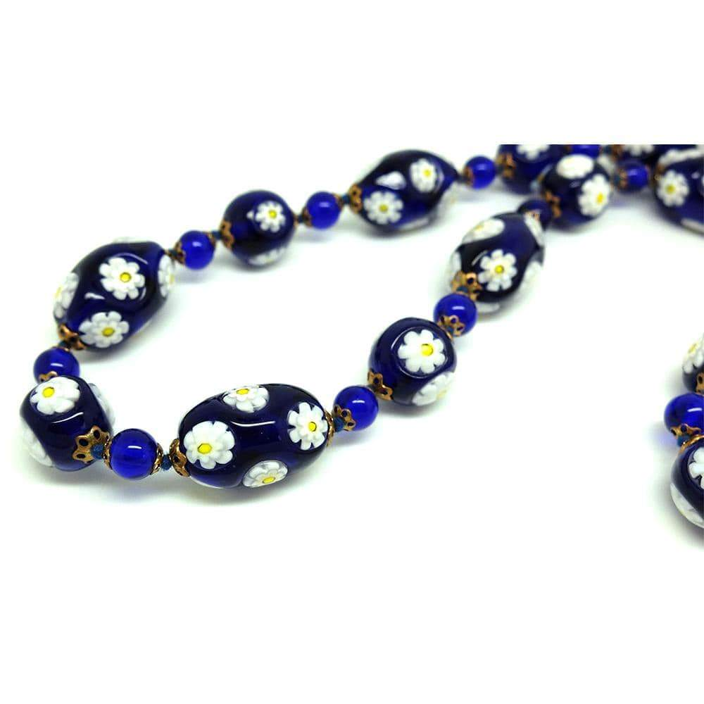 1950s Necklace Vintage 1950s Millefiori Beaded Glass Murano Necklace