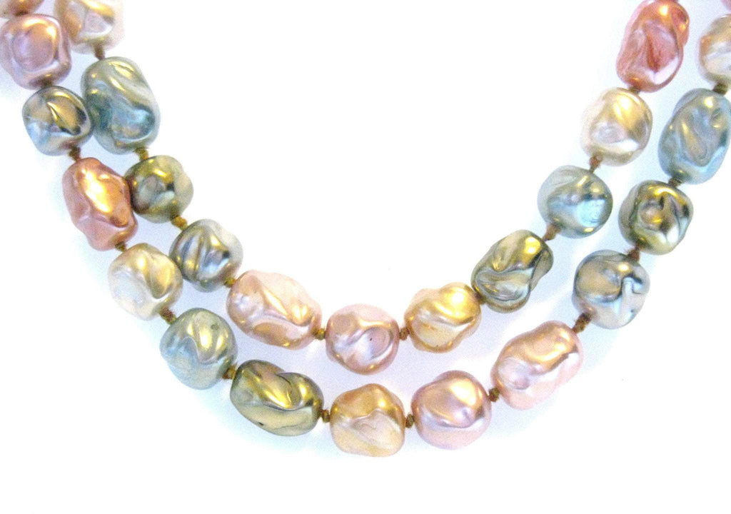 Vintage Faux Pearl Pastel Necklace