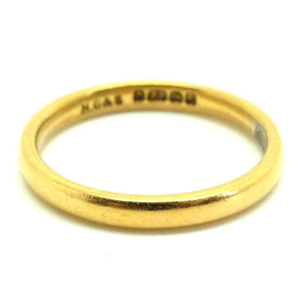 1950s Ring Vintage 1950s 22ct Gold Wedding Ring