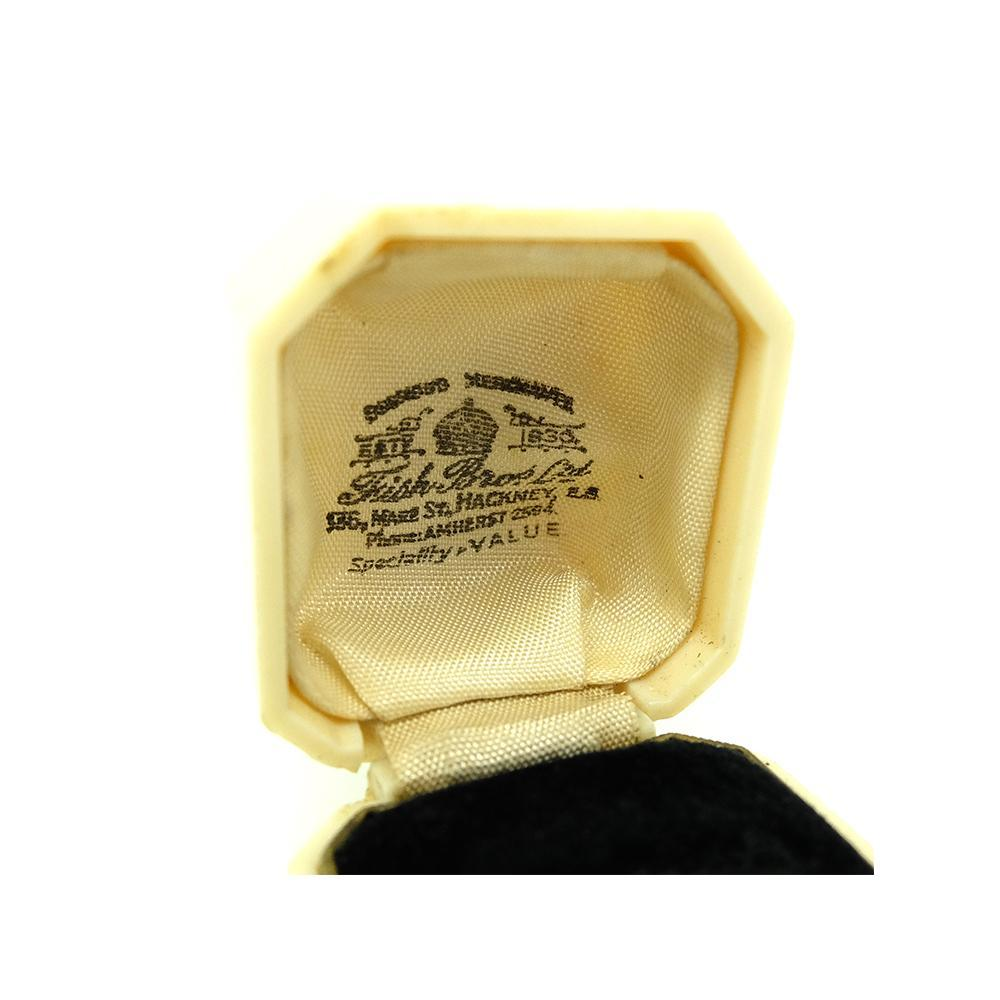 Vintage 1950s Cream Engagement Ring Box