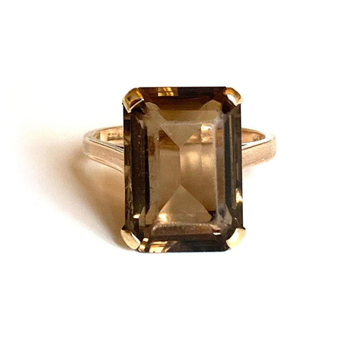 Yellow Sapphire Diamond 9ct White Gold Ring