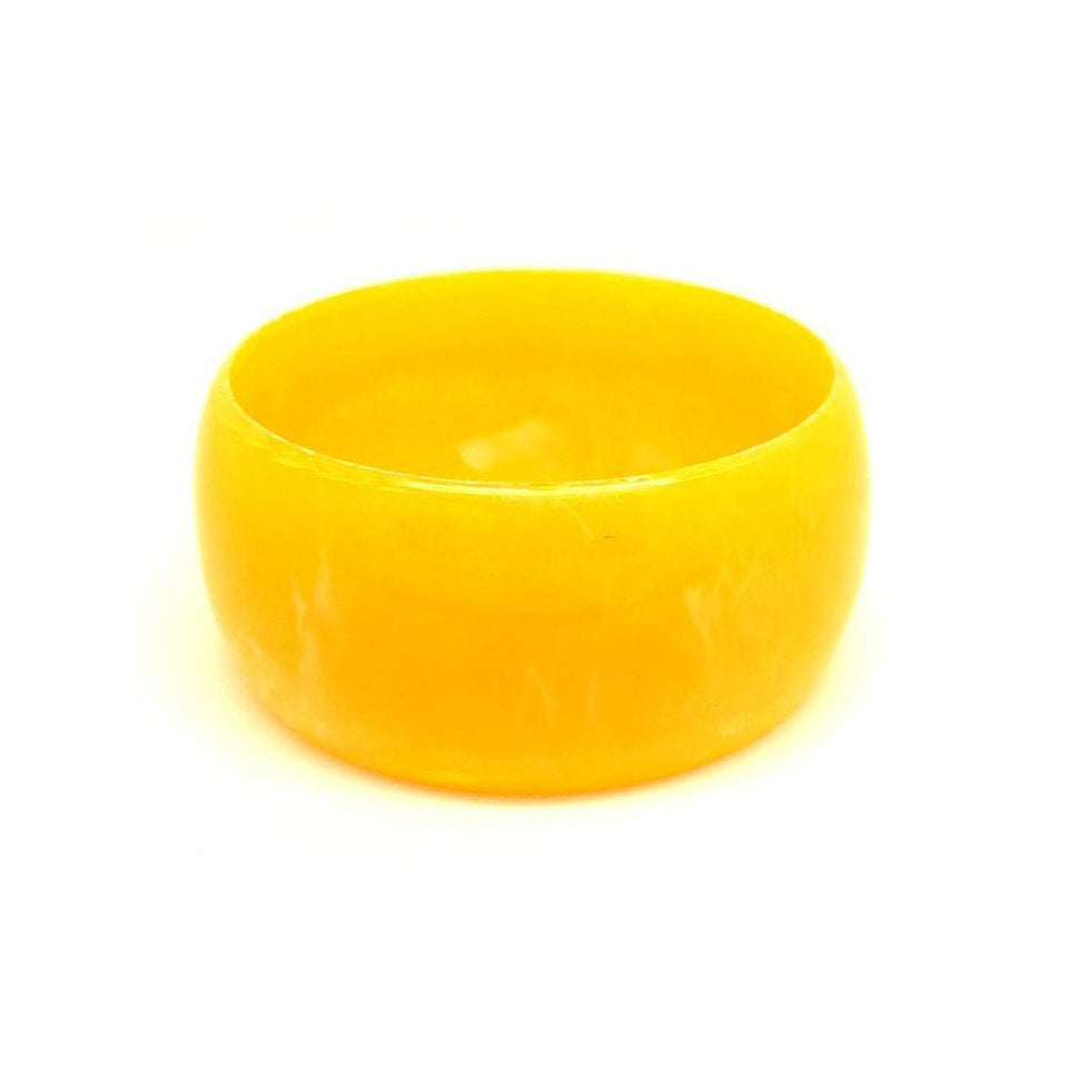 Vintage 1960s Plastic Orange Round Bangle Bracelet