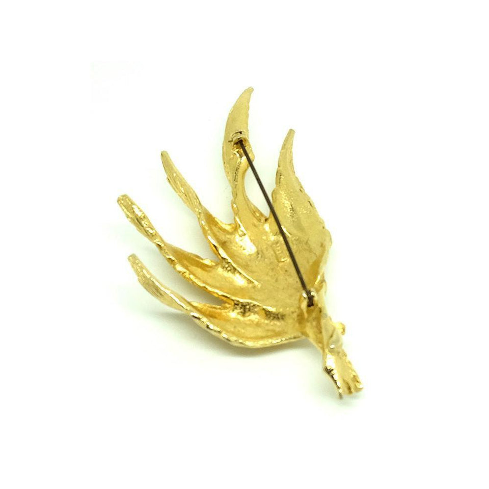 Vintage 1960's 'Art' Leaf Brooch