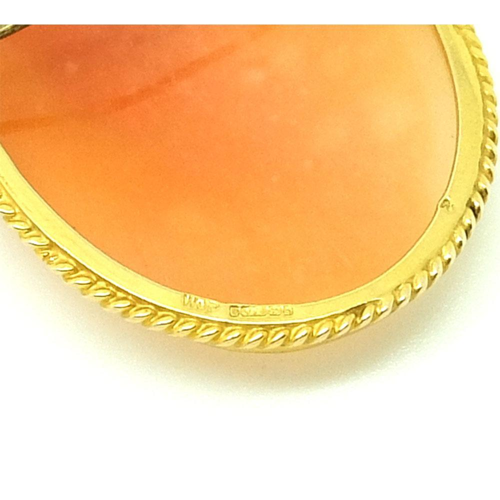 Vintage 1965 Cameo 9ct Gold Brooch