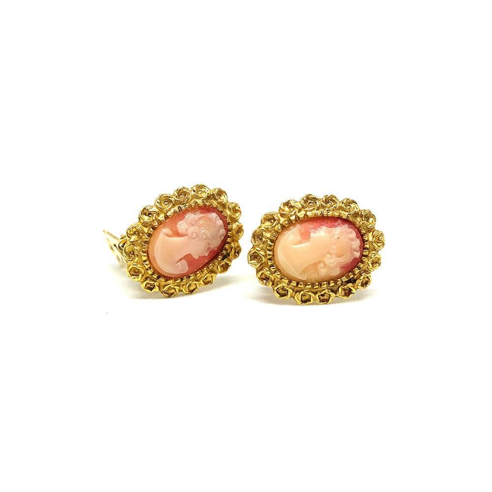 Vintage 1960's Cameo Clip Earrings