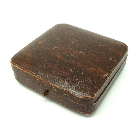 1960s Jewellery Box Vintage 1960s Brown Leather Jewellery Box