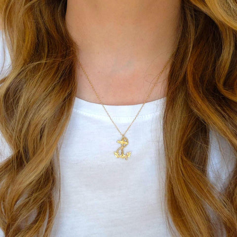 Vintage 1960s Anchor of Hope Charm Necklace