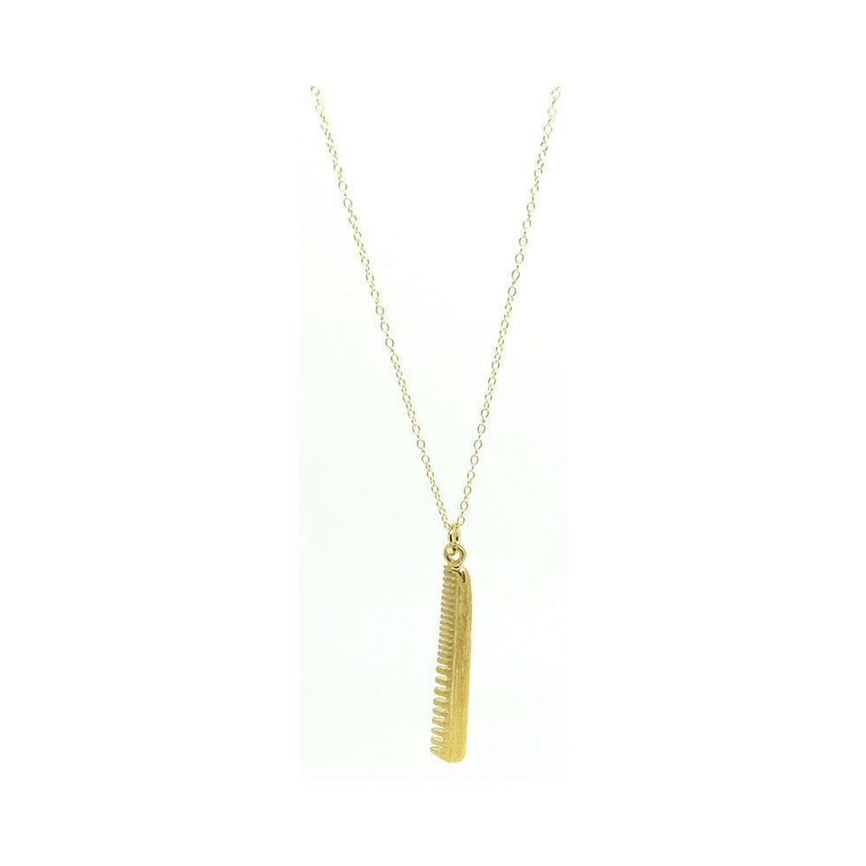 Vintage 1960s Comb Charm Necklace
