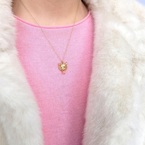 Vintage 1960s Fox Charm Necklace