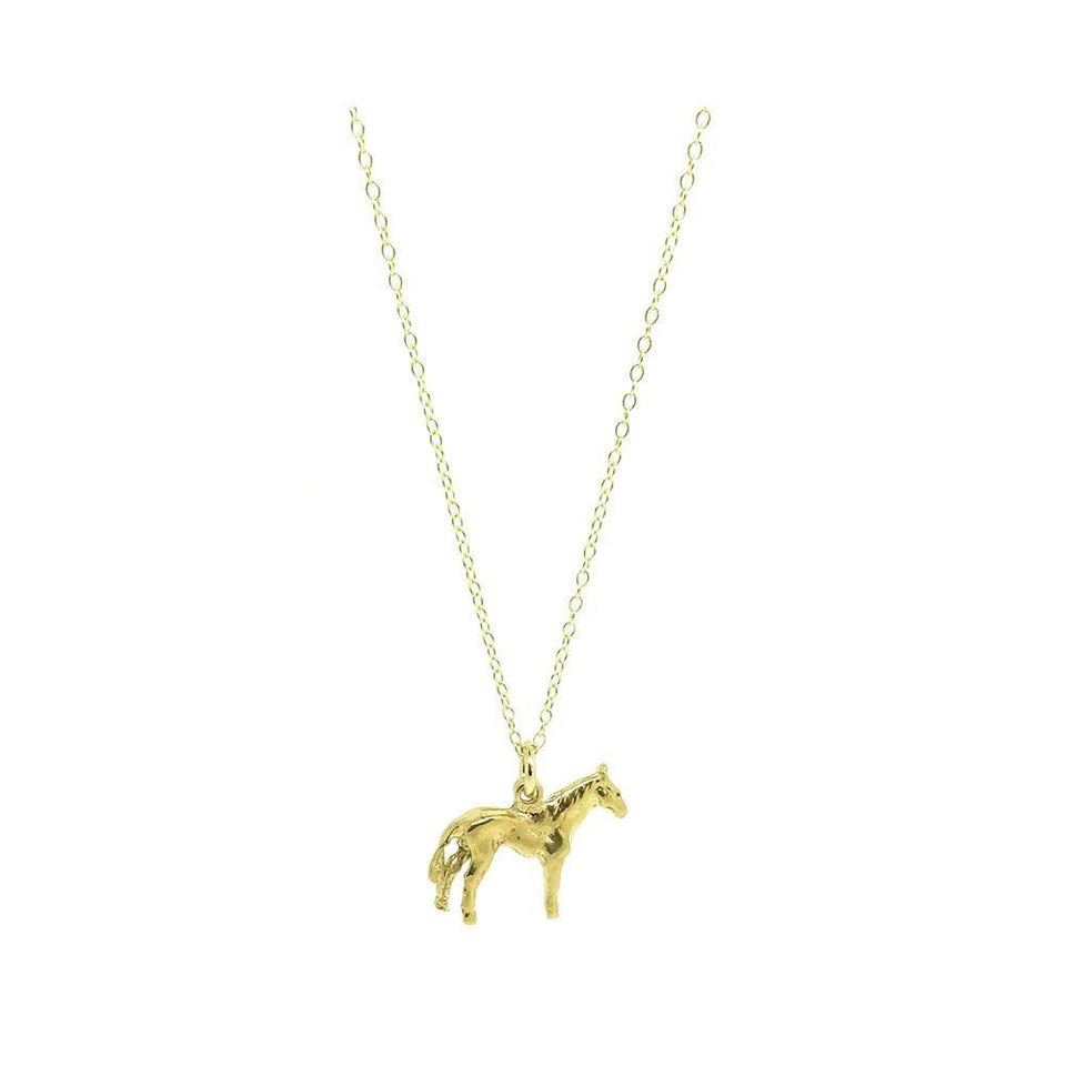 Vintage 1960s Horse Charm Necklace
