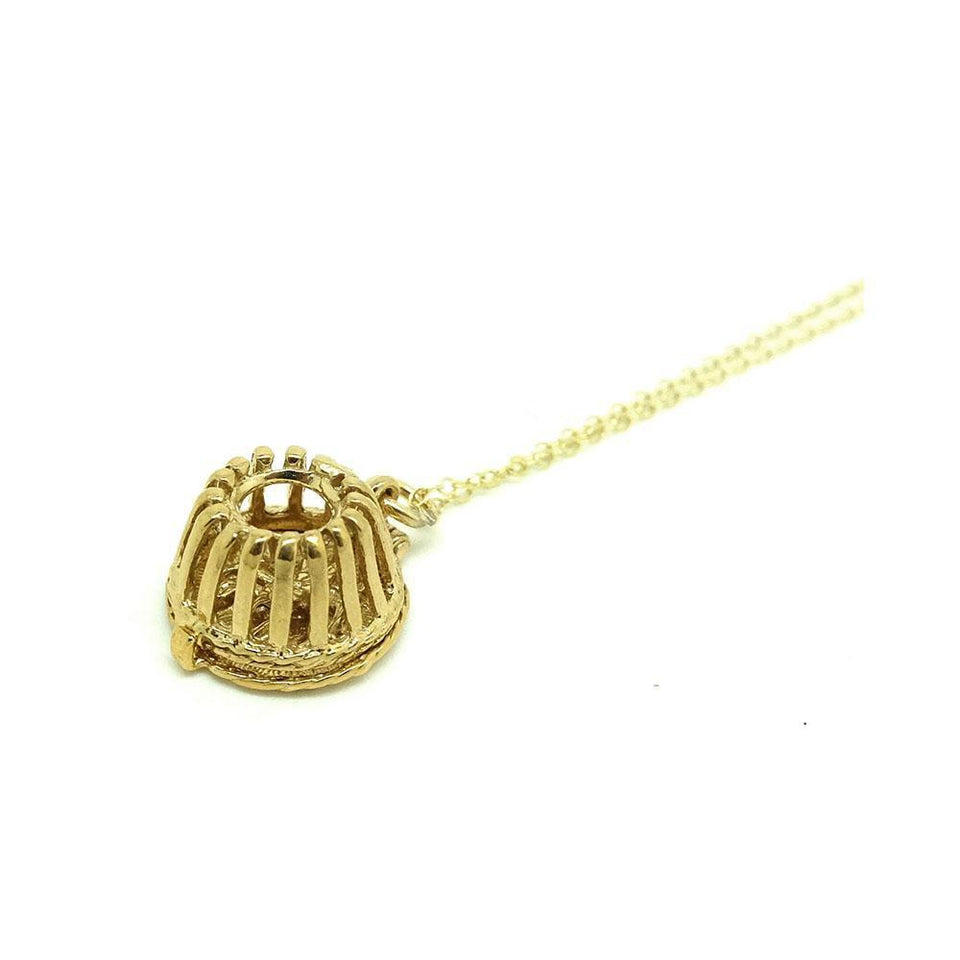 Vintage 1960s Lobster Pot Charm Necklace
