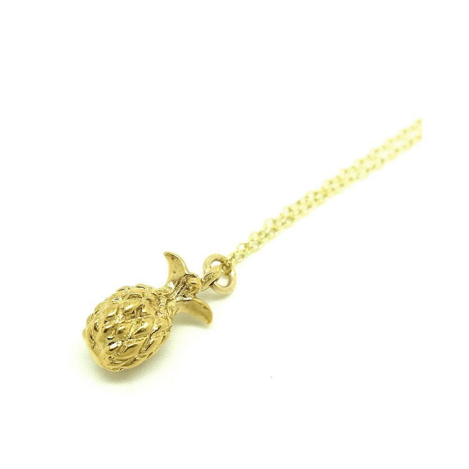 Vintage 1960s Pineapple Charm Necklace