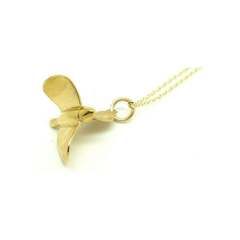 Vintage 1960s Propeller Charm Necklace