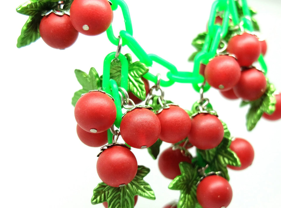 Vintage 1960s Red Berry Necklace