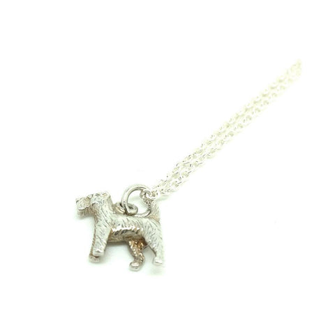 Vintage 1960s Silver Scottie Dog Charm Necklace