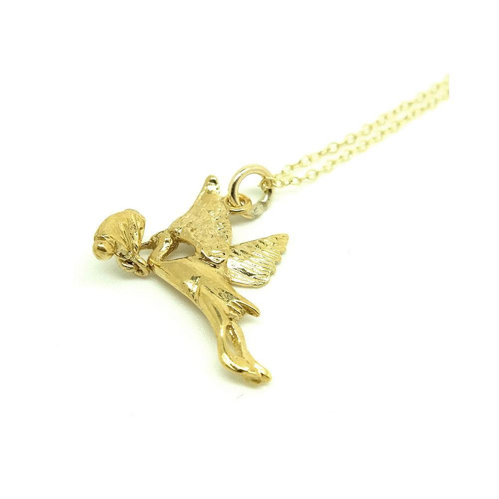 Vintage 1960s Stalk & Baby Charm Necklace