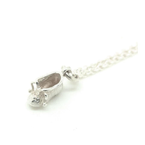 Vintage 1960s Sterling Silver Baby Shoe Charm Necklace
