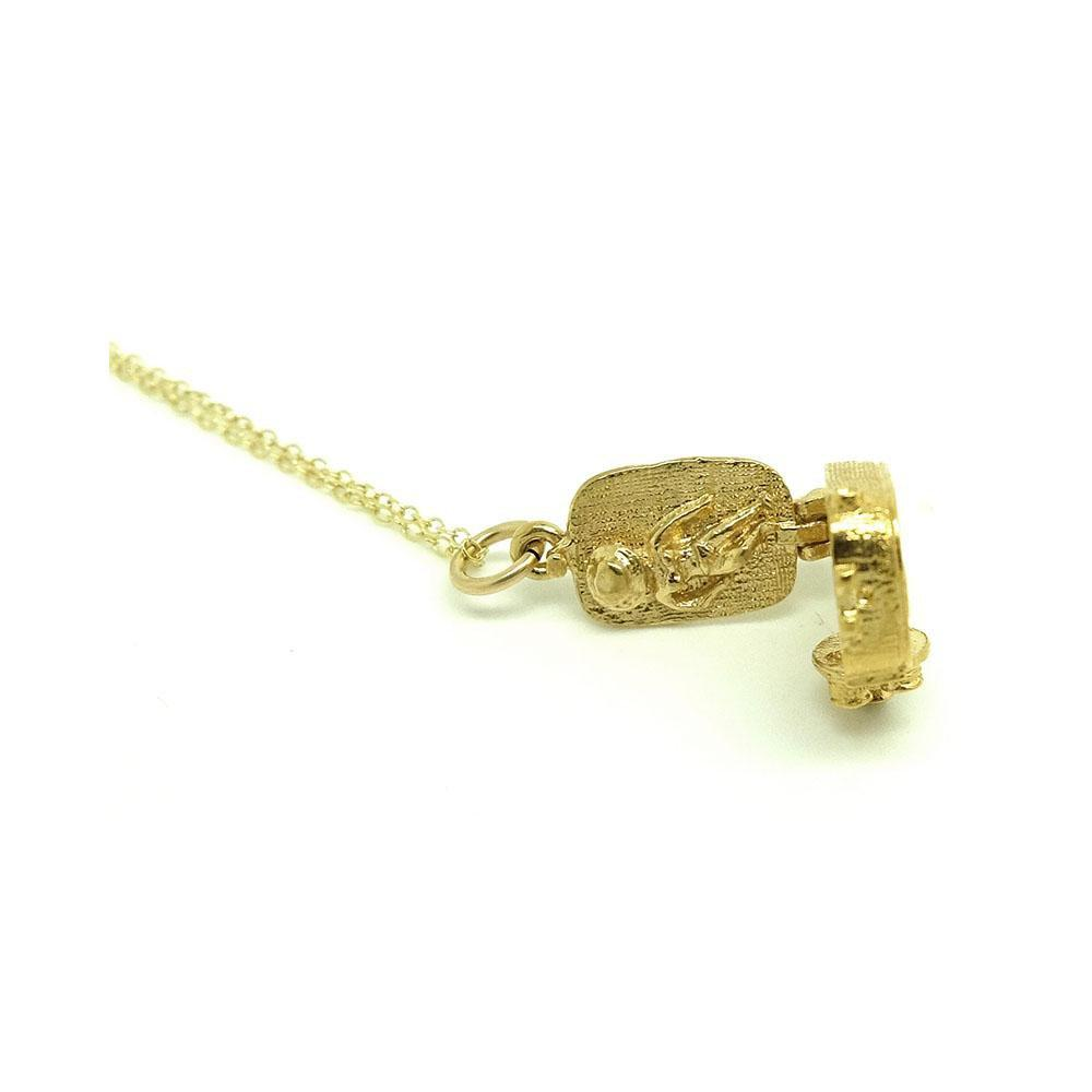 Vintage 1960s Video Camcorder Charm Necklace