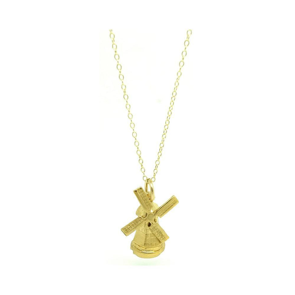 Vintage 1960s Windmill Charm Necklace