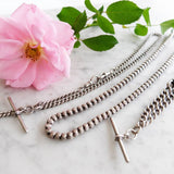 Vintage 1962 Silver Watch Chain Necklace Choker