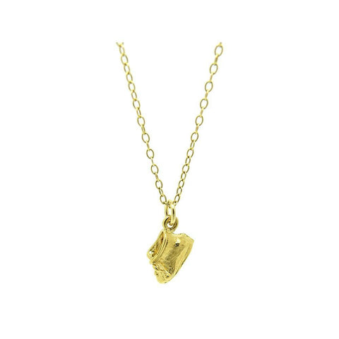 Vintage 1980s 'Return If Found' 9ct Gold Key Charm Necklace