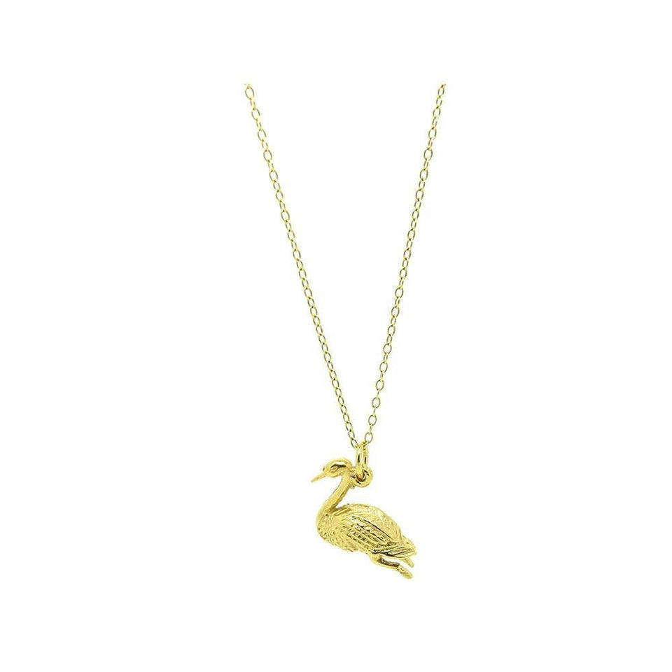 Vintage 1970s Swan Charm Necklace