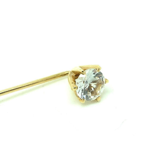 Vintage 1970s 18ct Yellow Gold Tie Pin