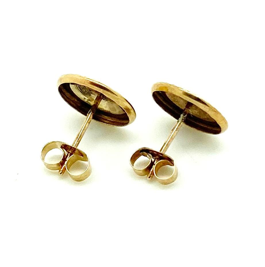 1970s Earrings Vintage 1970s 9ct Gold Disc Earrings