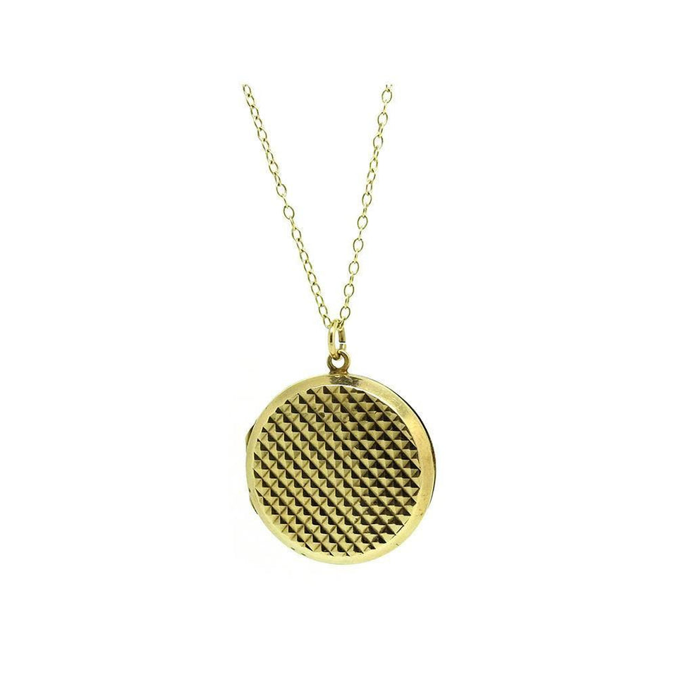 Vintage 1970's Round 9ct Yellow Gold Locket Necklace