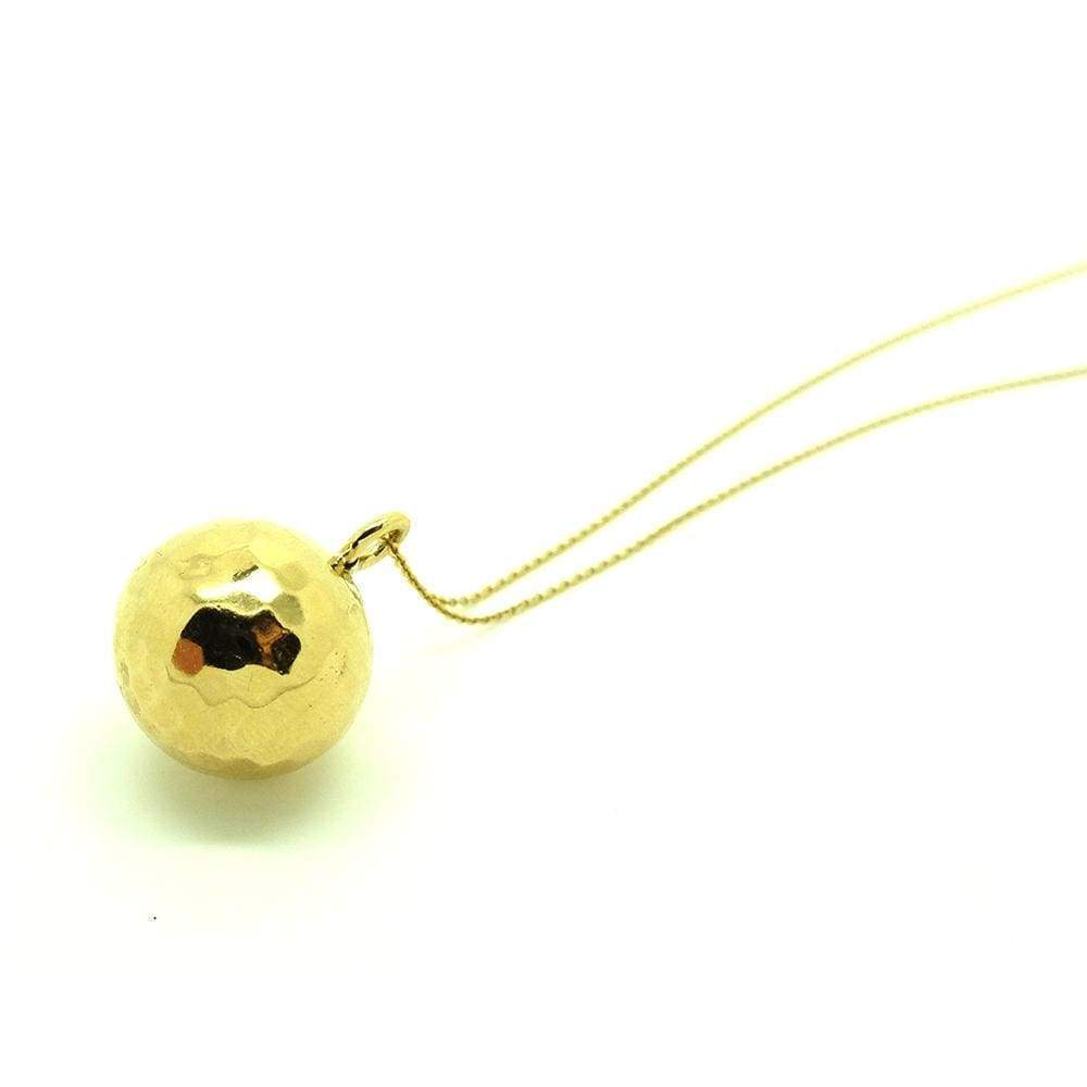 1970s Necklace Vintage 1970s 9ct Gold Vermeil Ball Charm Necklace