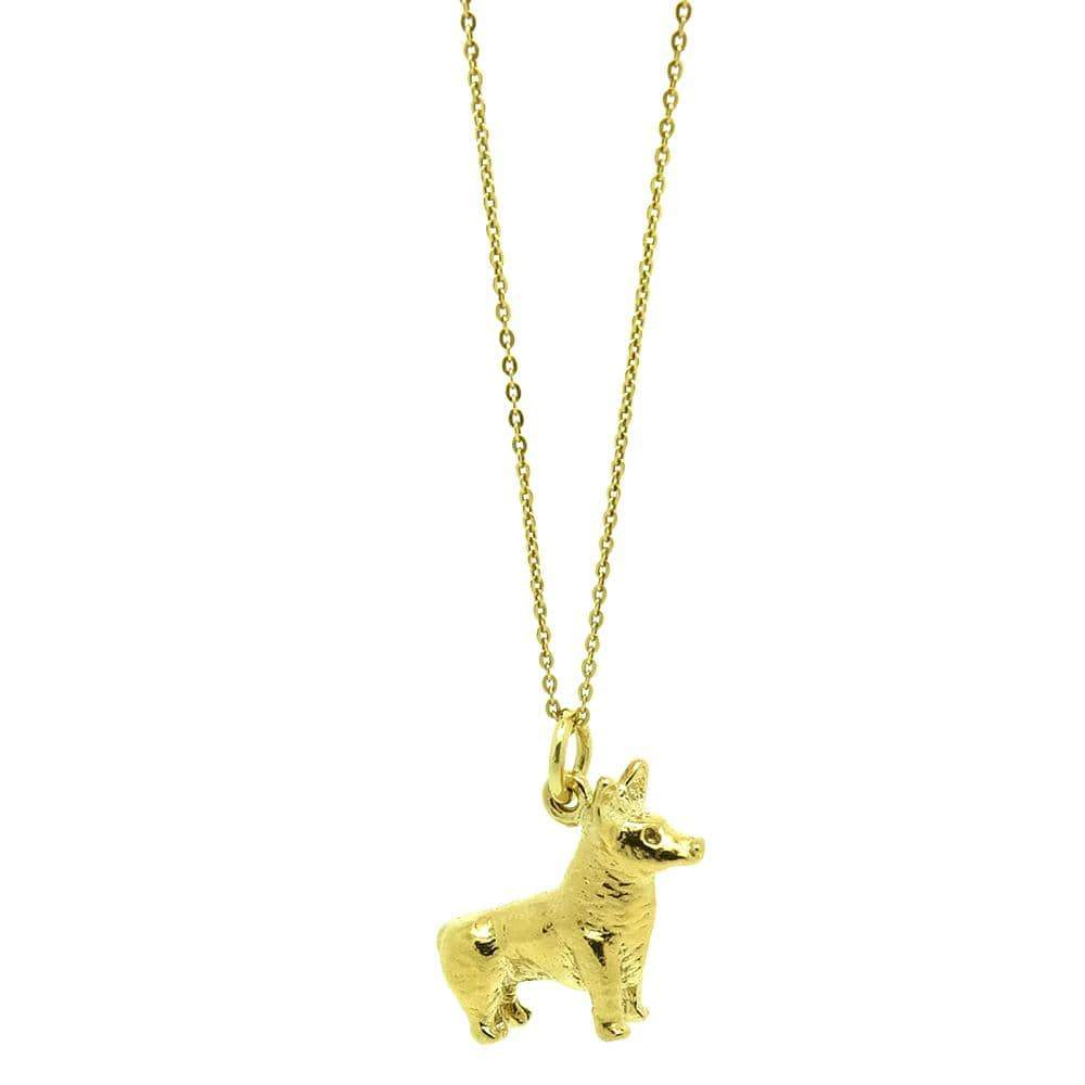 1970s Necklace Vintage 1970s 9ct Gold Vermeil Cogi Dog Charm Necklace
