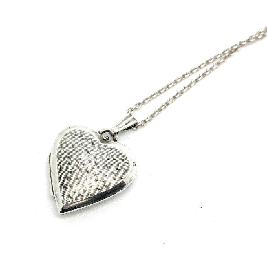 1970s Necklace Vintage 1970s Sterling Silver Heart Locket Necklace